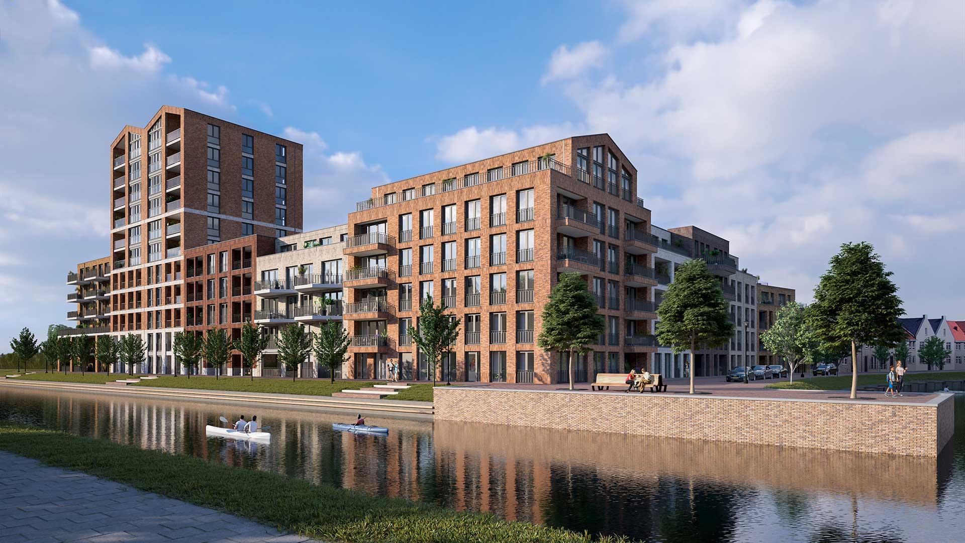 Nieuwbouw Waterfront - Kop vd Bakens