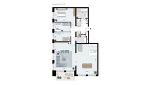 Wonen-in-Waterfront-Kop-van-de-Bakens-penthouse-Bnr-104