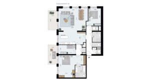 Wonen-in-Waterfront-Kop-van-de-Bakens-penthouse-Bnr-46