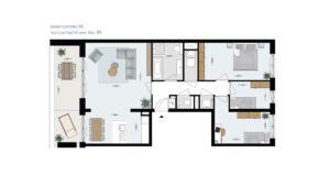 Wonen-in-Waterfront-Kop-van-de-Bakens-penthouse-Bnr-88